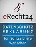 Siegel Datenschutzerklärung e-recht24
